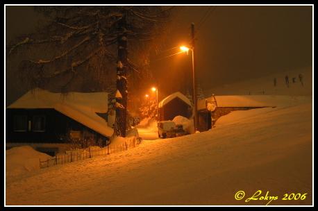 Půlnoc v v Jizerských horách