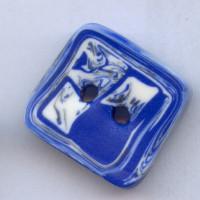 knoflík modrý čtverec